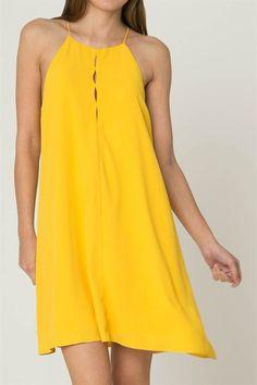 Yellow Aline Key Dress