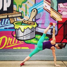 Chicago Has Never Looked So Gorgeous #refinery29 http://www.refinery29.com/chicago-street-art-amazing-yoga-poses#slide-2 An explosion of color in the West Loop.Artwork by @tenderj.