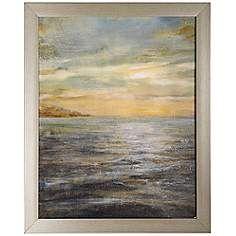 """Serene Sea II 32"""" High Seascape Wall Art"""