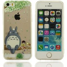 Klar modisches Design in verschiedenen Farben Stilvolle Cool Cartoon totoro Schmetterling Hartplastik Case Schutzhülle für Apple iPhone 5 5S 5G Hülle
