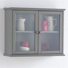 biblioth que vitr e pin massif coloris blanc authentic. Black Bedroom Furniture Sets. Home Design Ideas