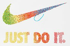 NIKE JDI Stitched Tee - Evelin Kasikov – CMYK embroidery and Typographic Design – London