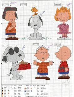Cross-stitch Snoopy & Gang...   Aguja e hilo..vamos bordar: Punto de Cruz peanuts - several charts