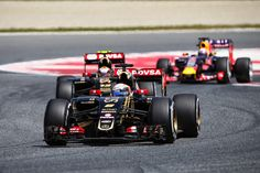 Romain Grosjean on his way to a fine 8th place. Grosjean's accounts for all of Lotus points thus far in the season.