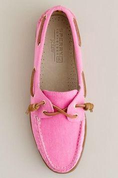 pink sperrys!
