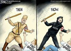 There are people (leftists of course!) who want you to believe that fascism is right-wing conservative. So what does that make Antifa or See the diff? Liberal Hypocrisy, Liberal Logic, Socialism, Communism, Political Memes, Political Cartoons, Political Posters, Louisiana, Jokes