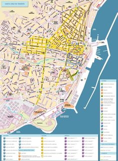 George Town hotels and sightseeings map Maps Pinterest George