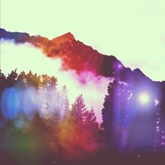 Beautiful rainbow-hued photos of British Columbia by Instagramer Matt French.    Edited using a mix of these iPhone apps: Lens Flare, Snapseed, Picfx, & Instagram.