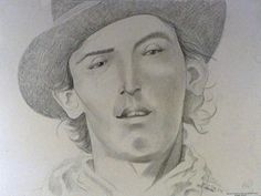 Portait-Of-Billy-The-Kid William H Bonney, My Best Friend, Best Friends, Billy The Kids, Colored Pencils, Native American, Crime, Hero, My Love