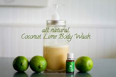 Young Living Essential Oil Lime Body Wash DIY