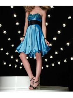 Satin Strapless Short A Line Skirt With Rouched Waistline Hot Sell 2010 New Cocktail Dress CK 0034 1132