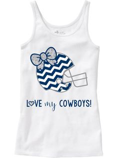 A personal favorite from my Etsy shop https://www.etsy.com/listing/248453094/girls-cowboys-shirt-dallas-cowboys-gear