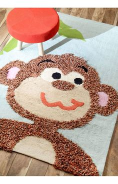Rugs USA Cradle Monkey Multi Rug. Rugs USA Summer Sale up to 80% Off! Area rug, carpet, design, style, home decor, interior design, pattern, trend, statement, summer, cozy, sale, discount, free shipping.