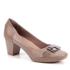 Sapato Scarpin Feminino Usaflex by Perfetto - Bege - Passarela.com