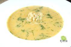 Kremowa zupa koperkowa. Na obierkach z serkiem topionym! Dill soup