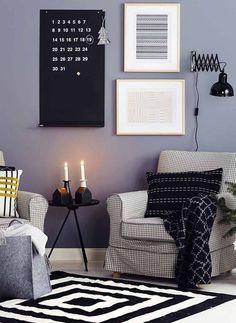 Väritä koti mustalla ja valkoisella, Kotivinkki  | Kodin1, Anno Maja -matto