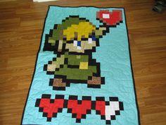 Baby Link - Legend Of Zelda - Crib Quilt 35 X 50