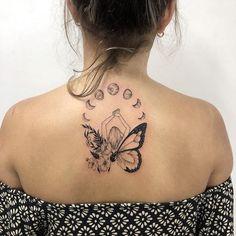 Body Art Tattoos, Small Tattoos, Girl Tattoos, Tattoos For Women, Pretty Tattoos, Beautiful Tattoos, Metamorphosis Tattoo, Piercing Tattoo, Piercings