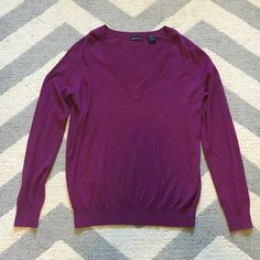 Plum sweater Good condition *selling for my momma. 🚭Smoke free, 💜🐶😺 Pet friendly household. Moda International Sweaters V-Necks