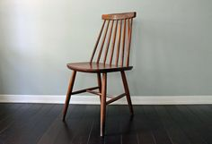 Vintage Mid Century Modern MCM Wooden Chair Houston Texas