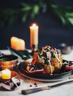 Whole-Roasted Cauliflower with Skhug
