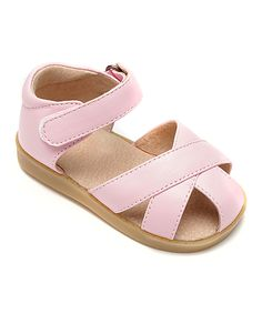 84fbb4073 Mooshu Trainers Pink Strappy Squeaker Sandal