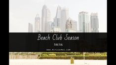 It is beach season in Dubai. Join me for a day at JBR Beach Dubai Life, Beach Club, Join, Seasons, Day, Travel, Viajes, Seasons Of The Year, Destinations
