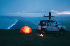 chrisburkard: Not a bad place to set up camp… #solarlife #camping #surfing…