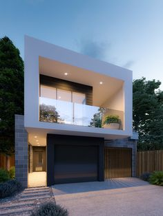 House Front Design, Small House Design, Modern House Design, Home Building Design, Building A House, Townhouse Designs, Small Modern Home, Villa, Modern Architects