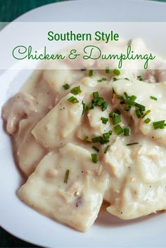 This Southern comfort food classic is made from scratch with homemade chicken broth and rolled dough strips to create the best Southern style chicken and dumplings.
