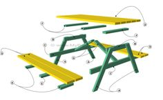 Picnic Table Plans - option #1 , recalculate for 8ft table