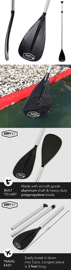 Stand Up Paddles 177505: Adjustable Paddle 3 Piece Travel Stand Up Explorer Series -> BUY IT NOW ONLY: $61.19 on eBay!
