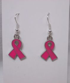 Breast Cancer Awareness Earrings @hopeslittleangels ON SALE w/Coupon Code BONANZA