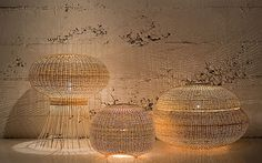 Wicker Lamps by Made in Mimbre
