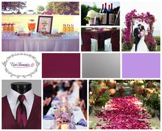 Wedding Colour Palette 2015 Sangria Lavender And Silver Ezeevents