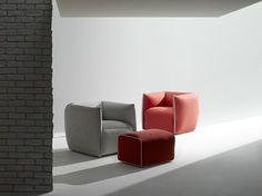 Mia Armchair With Trim in a Contrast Colour MDF Italia - Milia Shop Contemporary Dining Chairs, Contemporary Furniture, Decor Interior Design, Furniture Design, Milan Design, Love Design, Elegant, Home Decor, Commercial Furniture