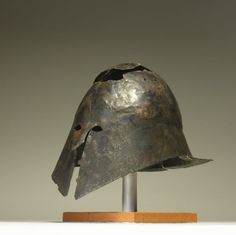 Bronze helmet of Italo-Corinthian type 400-300 BC Western Greek (Source: The British Museum)