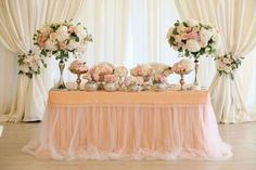 Two-tone Tulle Chiffon Table Skirt Long Two-tone Tulle image 5 Bridal Table, Wedding Table, Wedding Reception, Wedding Colors, Wedding Styles, Chiffon, Wedding Bouquets, Wedding Dresses, Inexpensive Wedding Venues
