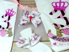 Juicy Couture Inspired Personalized Tutu Set by glamclosetkidz. Explore more products on http://glamclosetkidz.etsy.com