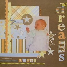Baby Scrapbook Page Layout Ideas: Sweet Dreams
