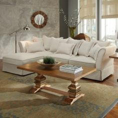 White Chaise Lounge Sectional with Pillows (by Wildon Home) like this couch