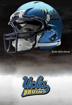 UCLA - University of California at Los Angeles Bruins - concept football helmet