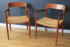 Teak Dining Chairs by Niels Moller
