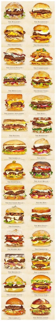 Thai Beef Burger, Healthy Recipes Images Hamburgers that can be used for invitation or decoration – United States / USA Birthday – Cheeseburger Burger Recipes, Beef Recipes, Cooking Recipes, Tasty Burger, Burger Bar, Healthy Recipes, 30 Burgers, Burger Mania, Burger Toppings