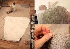 Nøsteblogg - Nøstebarns blogg: Redesign: Hvordan trekke om en lenestol Diy, Bricolage, Do It Yourself, Homemade, Diys, Crafting