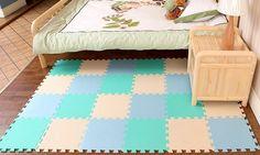 10tlg. Beige Himmelblau Grün-Blau Kinder Weiche Böden Puzzle Matten für Kinder…
