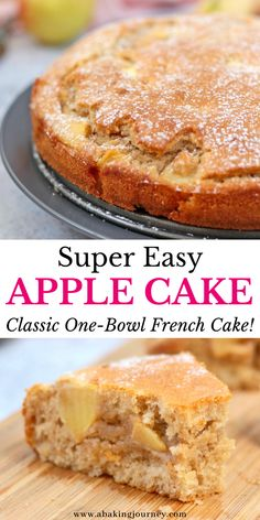 Easy French Recipes, French Dessert Recipes, Apple Dessert Recipes, Easy Cake Recipes, Apple Recipes Easy, Quick Apple Dessert, Low Sugar Cakes, Low Sugar Desserts, Easy Desserts