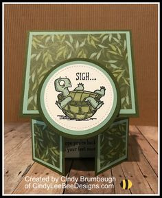 Stampin' Up Back on Your Feet Double Dutch Gatefold Video Tutorial – Cindy Lee Bee Designs Fun Fold Cards, Cool Cards, Folded Cards, Easy Cards, Making Greeting Cards, Greeting Cards Handmade, Bee Design, Shaped Cards, Stamping Up Cards