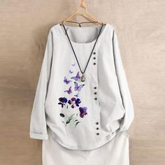 Plus Size T Shirts, Plus Size Blouses, Plus Size Tops, Women Sleeve, Butterfly Print, Sleeve Styles, Printed Shirts, Plus Size Fashion, Ideias Fashion