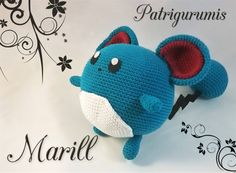 DIY Marill amigurumi en ganchillo - Crochet